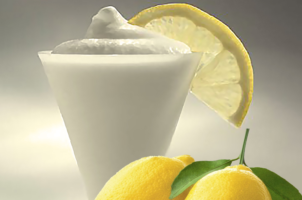 Lemon Sorbet in tub