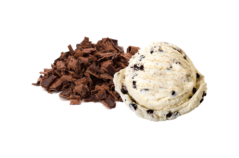 Stracciatella Ice cream in tub