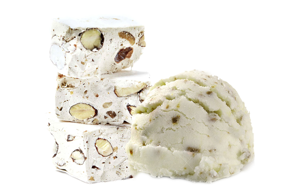 Torrone Ice cream in tub